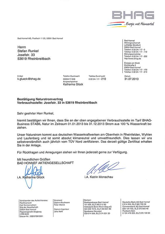 BHAG Zertifikat 2013